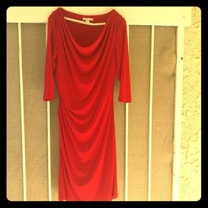 The RED DRESS, beautiful draped Coldwater Creek